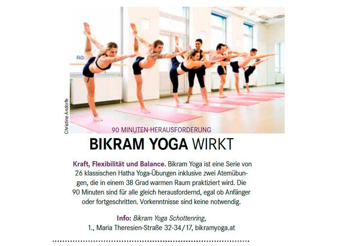 Bikram Yoga Wien Schottenring - Press